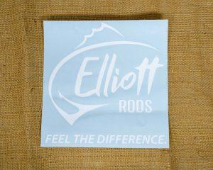 Elliott Rods Decal - White