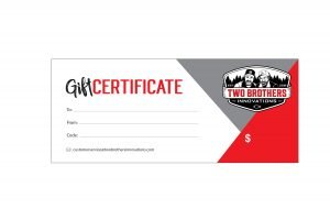 two brothers innovations gift certificate