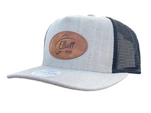 Elliott Rods Leather Patch Hat Front Side View